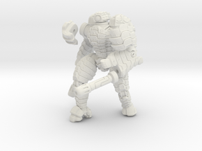 Mech suit with twin weapons (7) in White Natural Versatile Plastic