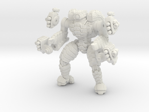 Mech suit with missile pods (10) in White Natural Versatile Plastic