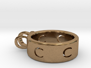 Ring horseshoe in Natural Brass
