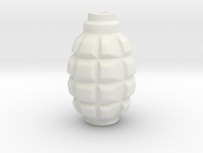 F1 (F-1) Grenade Mini Vase in White Strong & Flexible