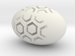 Hex Egg in White Natural Versatile Plastic