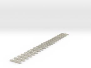 Schwellenjoch Spur Nf Länge= 96,14mm in White Acrylic
