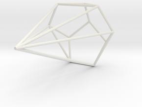 Boa Wireframe 1-300 in White Natural Versatile Plastic