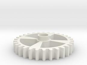 Spur 30t 64p 2B Ver 2 in White Natural Versatile Plastic