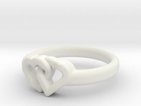 Entangled Love Small Sz18 in White Natural Versatile Plastic