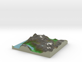 Terrafab generated model Tue Jan 28 2014 22:29:00  in Full Color Sandstone