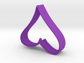 Cookie Cutter - Decorative Heart Imprinted in Purple Processed Versatile Plastic