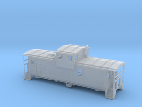DMIR Widevision Caboose Early - Nscale in Smooth Fine Detail Plastic
