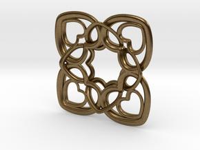 Heart Motif Pendant in Natural Bronze