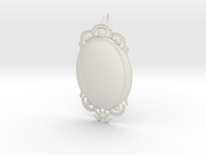 Opal PENDANT in White Natural Versatile Plastic