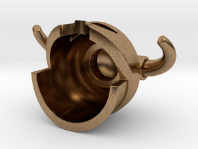 Iron Helmet in Natural Brass