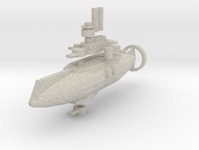 Bojo Class Light Cruiser in Natural Sandstone
