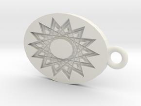 Mandala Shadow in White Natural Versatile Plastic