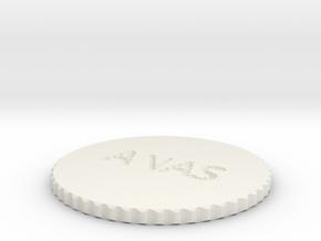 by kelecrea, engraved:   ANAS in White Natural Versatile Plastic
