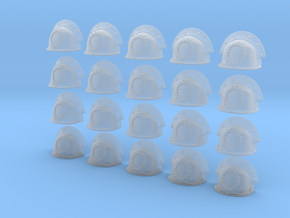 20 Heroic/TrueScale Custom Shoulder Pad Gear in Smooth Fine Detail Plastic