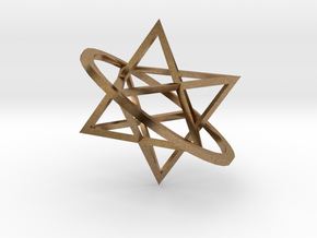 Double tetrahedron in Natural Brass