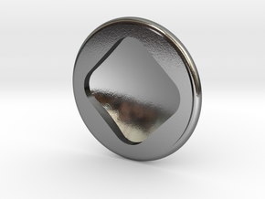 cp01 Round Stud 20111115 in Polished Silver