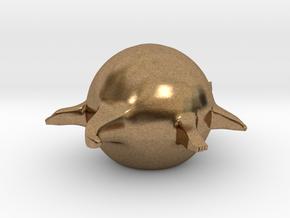 Fat Animals - Crocodile 1.0 (Small) in Natural Brass