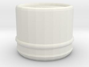 Vintage Style Hayashi Center Cap (64mm dia.) in White Natural Versatile Plastic