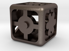 Geometric Dice in Stainless Steel