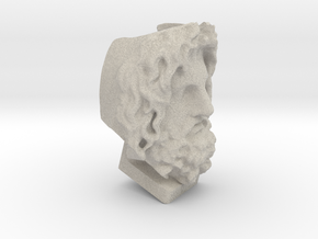 Head Of Serapis - 3D Selfie in Natural Sandstone