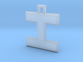 ABC Pendant - I Type - Solid - 24x24x3 mm in Smooth Fine Detail Plastic
