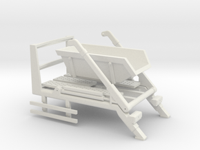 014001.2_Skip loader frame with 6m3 skip in h0 sca in White Natural Versatile Plastic: 1:87 - HO