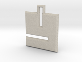 ABC Pendant - Y Type - Solid - 24x24x3 mm in Natural Sandstone