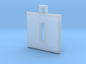 ABC Pendant - O/0 Type - Solid - 24x24x3 mm in Smooth Fine Detail Plastic