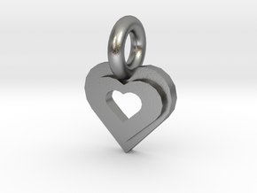 heart in Natural Silver