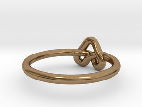 Love Knot-sz19 in Natural Brass
