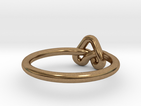 Love Knot-sz18 in Natural Brass