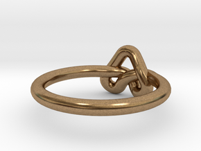 Love Knot-sz16 in Natural Brass