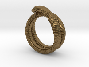 Snake Ring (various sizes) in Natural Bronze