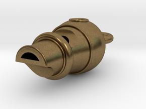 Tiny Whistle in Raw Bronze