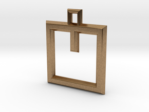 ABC Pendant - V Type - Wire - 24x24x3 mm in Natural Brass
