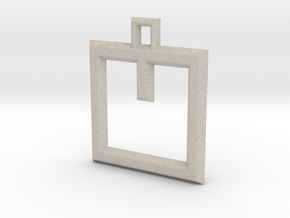 ABC Pendant - V Type - Wire - 24x24x3 mm in Natural Sandstone