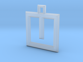 ABC Pendant - U Type - Wire - 24x24x3 mm in Smooth Fine Detail Plastic
