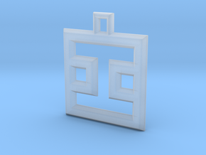 ABC Pendant - I2 Type - Wire - 24x24x3 mm in Smooth Fine Detail Plastic