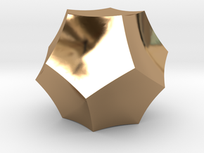 Curved Dodecahedron - Small in Polished Brass