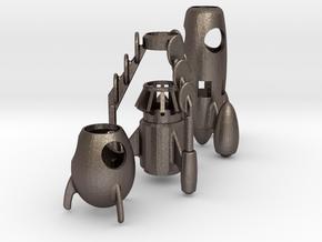 Enpiturocket3  The Pencil rockets in Polished Bronzed Silver Steel