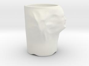 Face Escape Mug in White Natural Versatile Plastic