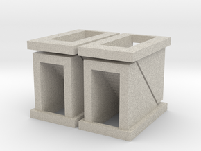 Subway Stairs - set of 4 - Z scale in Sandstone