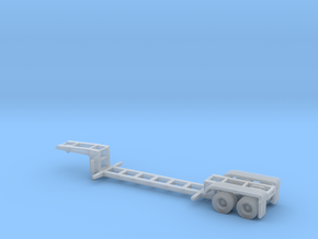N scale 1/160 MSW Trash Lowboy Trailer in Smooth Fine Detail Plastic
