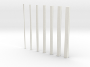 thin bars inc 0 5 in White Natural Versatile Plastic