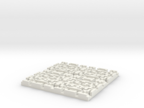 Depth Coaster in White Natural Versatile Plastic