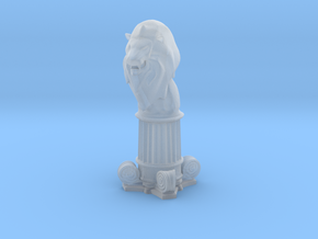 Lion Bishop (Square Base) in Smooth Fine Detail Plastic