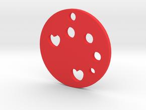 Love Disk v1 in Red Processed Versatile Plastic