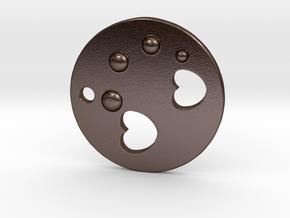 Love Disk V2 30mm in Polished Bronze Steel