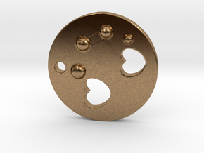 Love Disk V2 20mm in Natural Brass